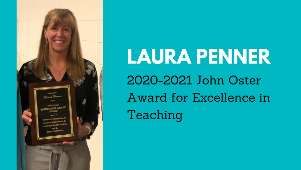 Laura Penner Receives John Oster Memorial Award for Excellence in Teaching