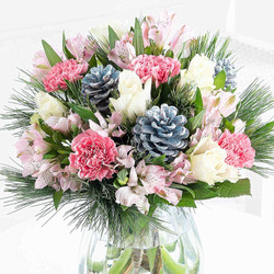 xmas bouquet in pinks and whites.jpg