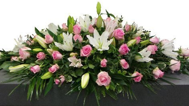 3ft Lily & Roses Casket spray