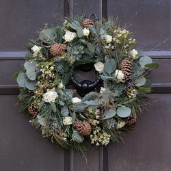 xmas wreath in whites and greens.jpg