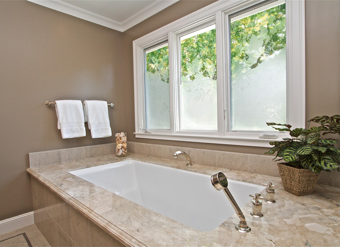 Traditional Bathroom - Frosted Glass