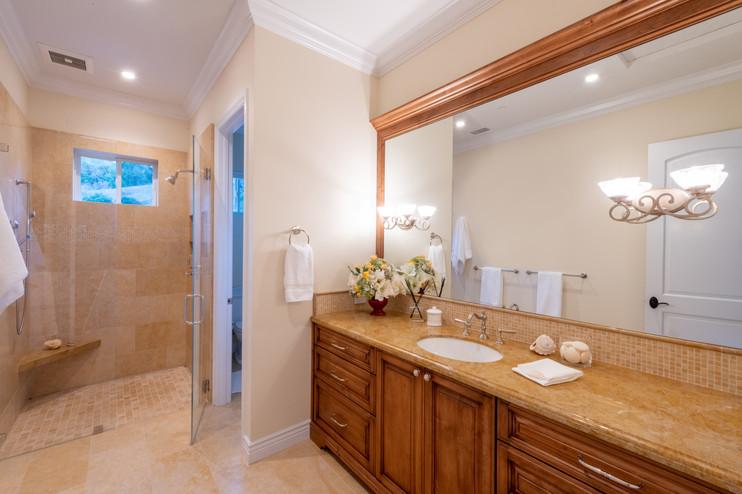 Mediterranean Estate Bathroom - Marin County