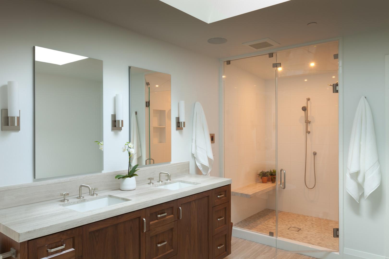 Contemporary Farmhouse Master Bathroom