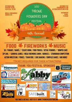 Brown & Orange Illustrative Fall Festival Flyer