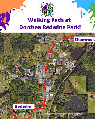 Walking Path at Dorthea Redwine Park! (1