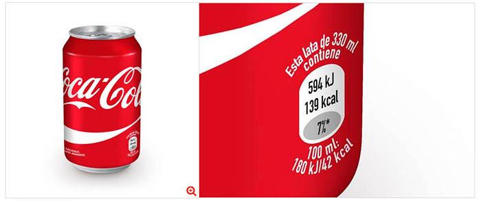 Calorías CocaCola