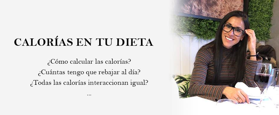 calorías en tu dieta