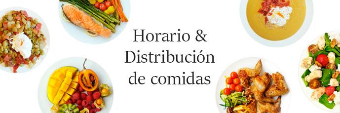 Horario y distribución de comidas