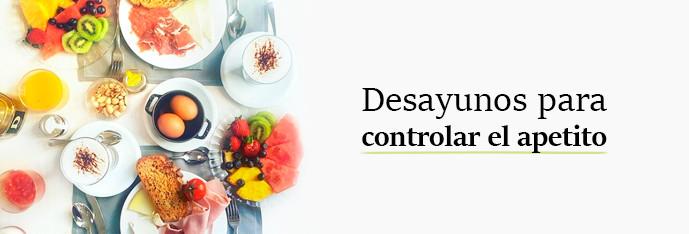 Desayunos para controlar el apetito