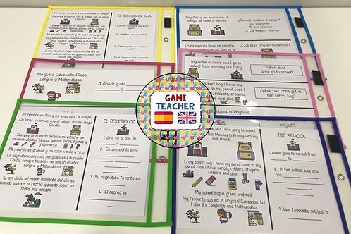 Textos sobre el colegio (español e inglés)