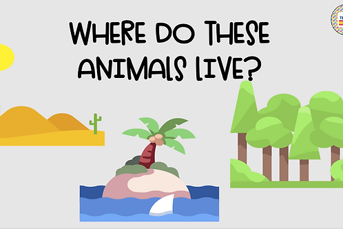 Worksheet (where do these animals live?)