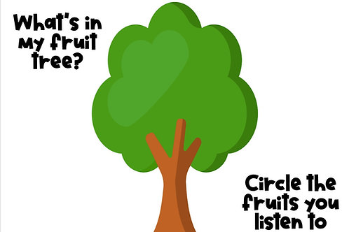 What's in my fruit tree??(Worksheets)