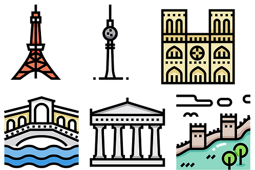 Countries and landmarks