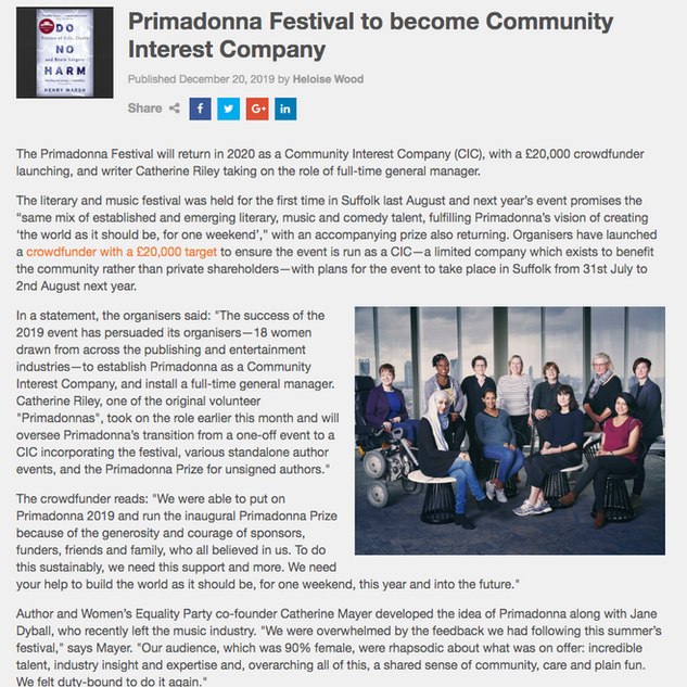 Primadonna in Bookseller