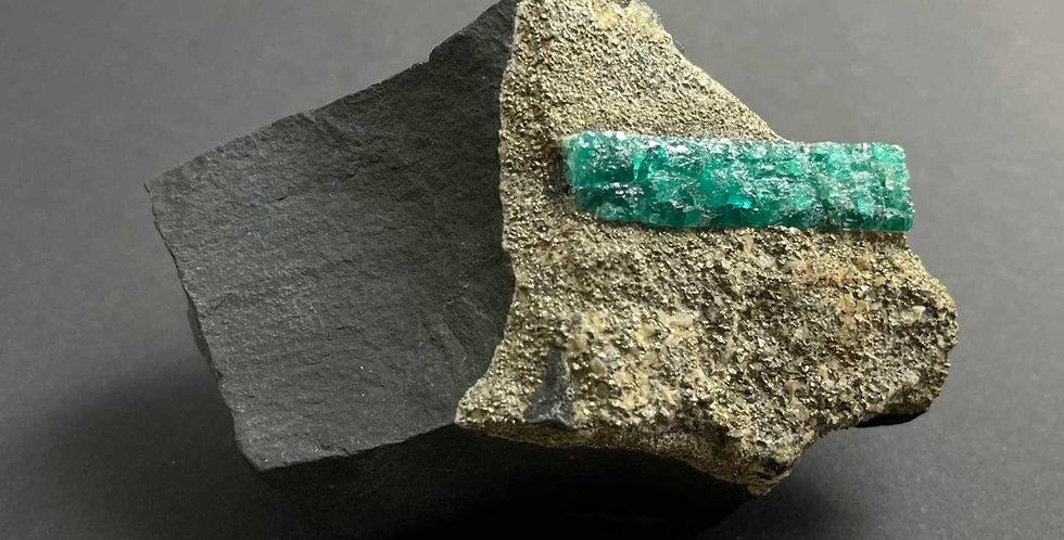Smaragd, Pyrit – Muzo, Kolumbien