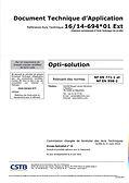 DTA_Opti-solution_N°16_14-694_01_V1_&_E
