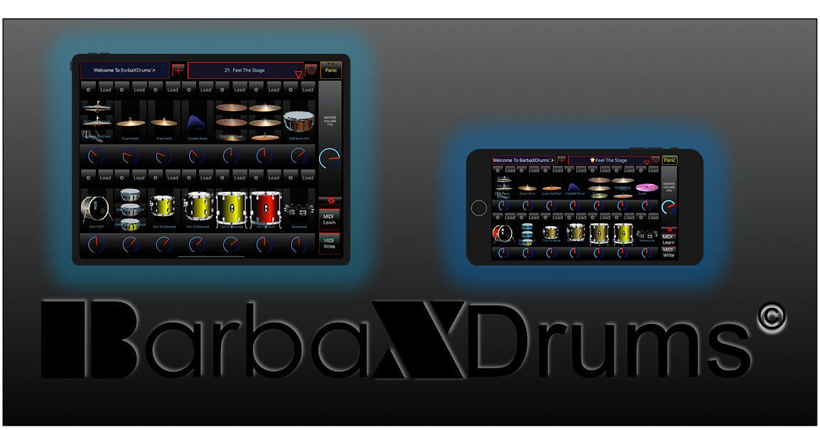 barbaxdrums e drum app iphone ipad