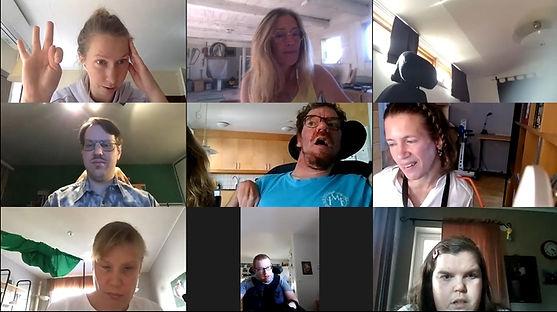 Bild från ett Zoom-möte med 9 deltagare.