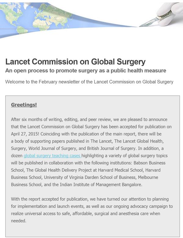 Newsletter- February 2015
