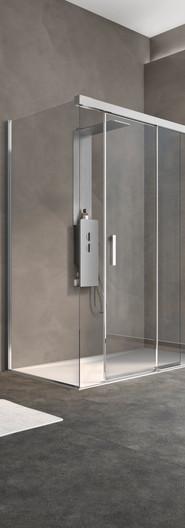 Kinespace Sliding door with fixed panel