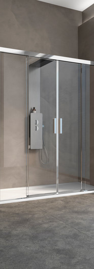 Kinespace two centre sliding doors with