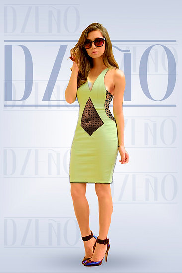 SHEAR FRONT/SIDE FITTED DRESS