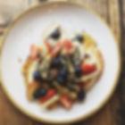 Last dish of breakfast service. Deliciou