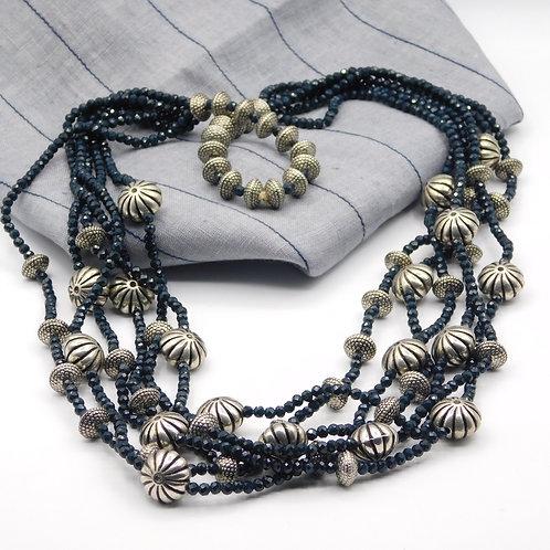 Blue multi-strand string
