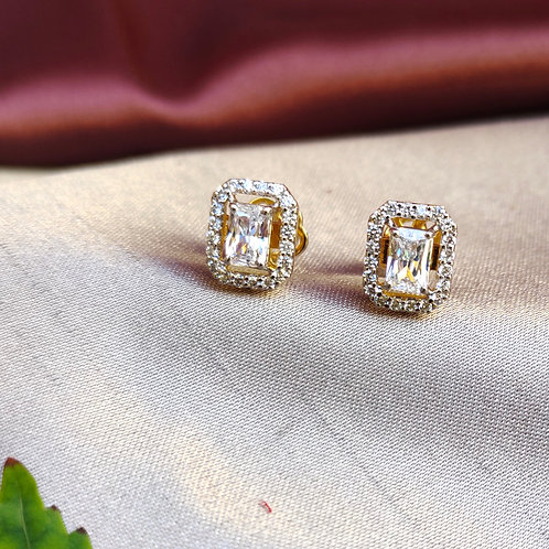 Emerald cut Swarovski Earring