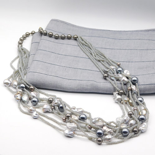 Grey Pearl String