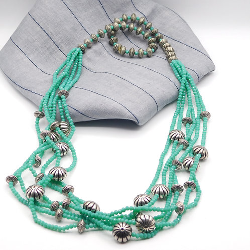 Aquamarine multi-strand string