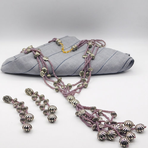 Mauve Necklace Set