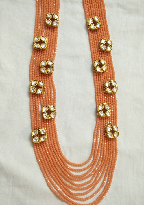 Peach Kundan String
