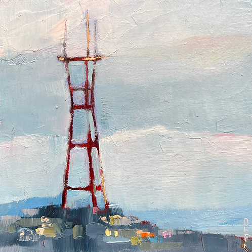 Sutro tower, midday blues