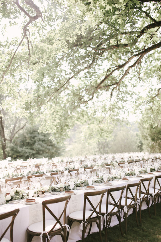 Romantic Outdoor Dinner Seating - Backyard Wedding