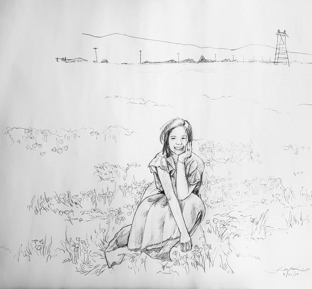 Self Portrait in the Antelope Valley Poppy Reserve