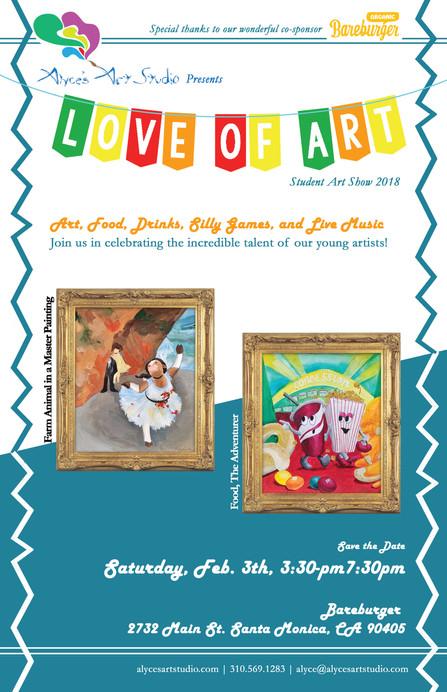 2018 Love of Art Student Show Flier Version 2 for non-studio members.jpg