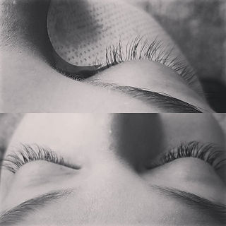 Before and after full set regular lashes