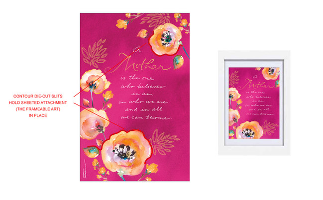 Mother's Day Card with Frame-able Art Keepsake