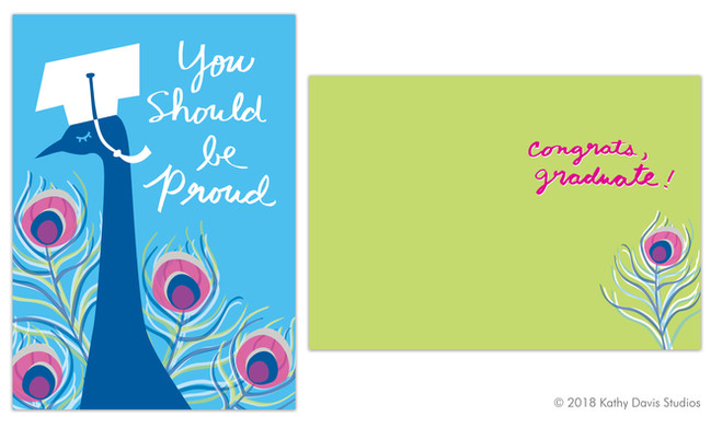 Greeting card illustration, copywriting and lettering