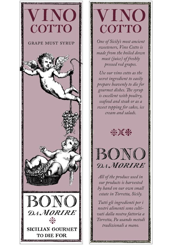 Bono da morire Vino Cotto Label