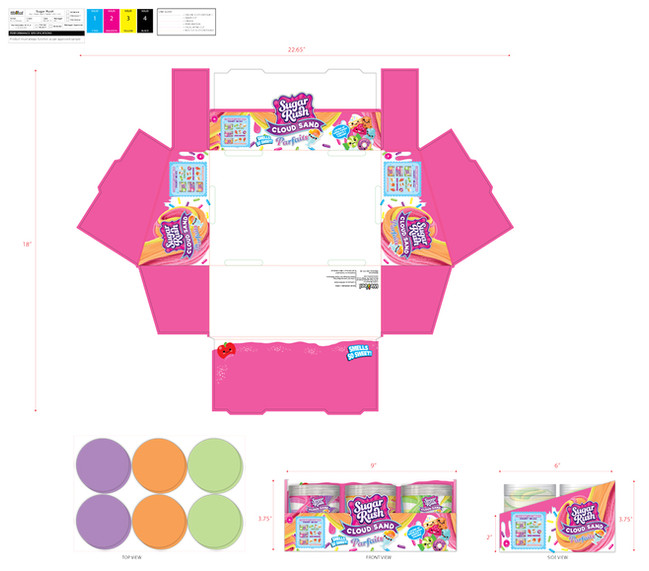 Toy Packaging Counter Display Unit