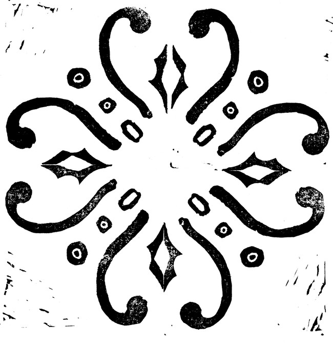 Linocut carvings/stampings