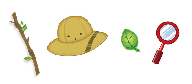 Icons for nature-themed toy concept