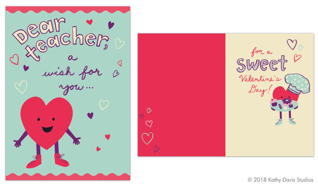 Greeting card illustration and lettering