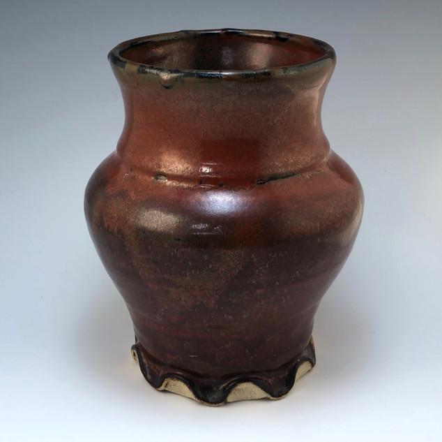 Iron Red Vase #103