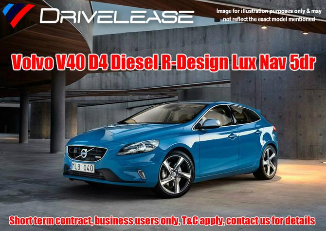 Volvo V40 D4 R-Design Lux Nav Auto - only £71.99 + VAT per week - 26 week short term hire contract