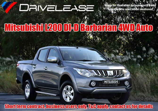 Mitsubishi L200 Barbarian Auto - only £89.99 + VAT per week - 26 week short term hire contract