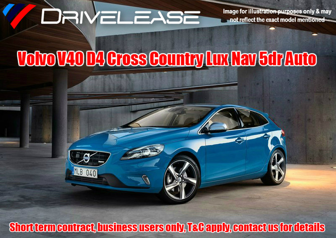 Volvo V40 Cross Country - only £69.99 + VAT per week - 28 week short term hire contract