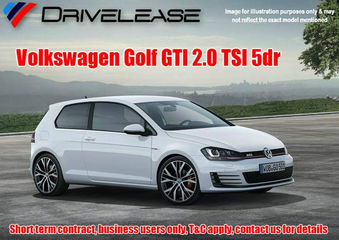 VW Golf GTI 2.0 TSI 5dr - only £84.99 + VAT per week - 26 week short term hire contract